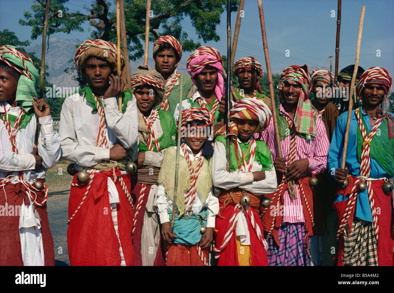 Group of Moslems during Moharram mourning Rajasthan state India Asia - Stock Image