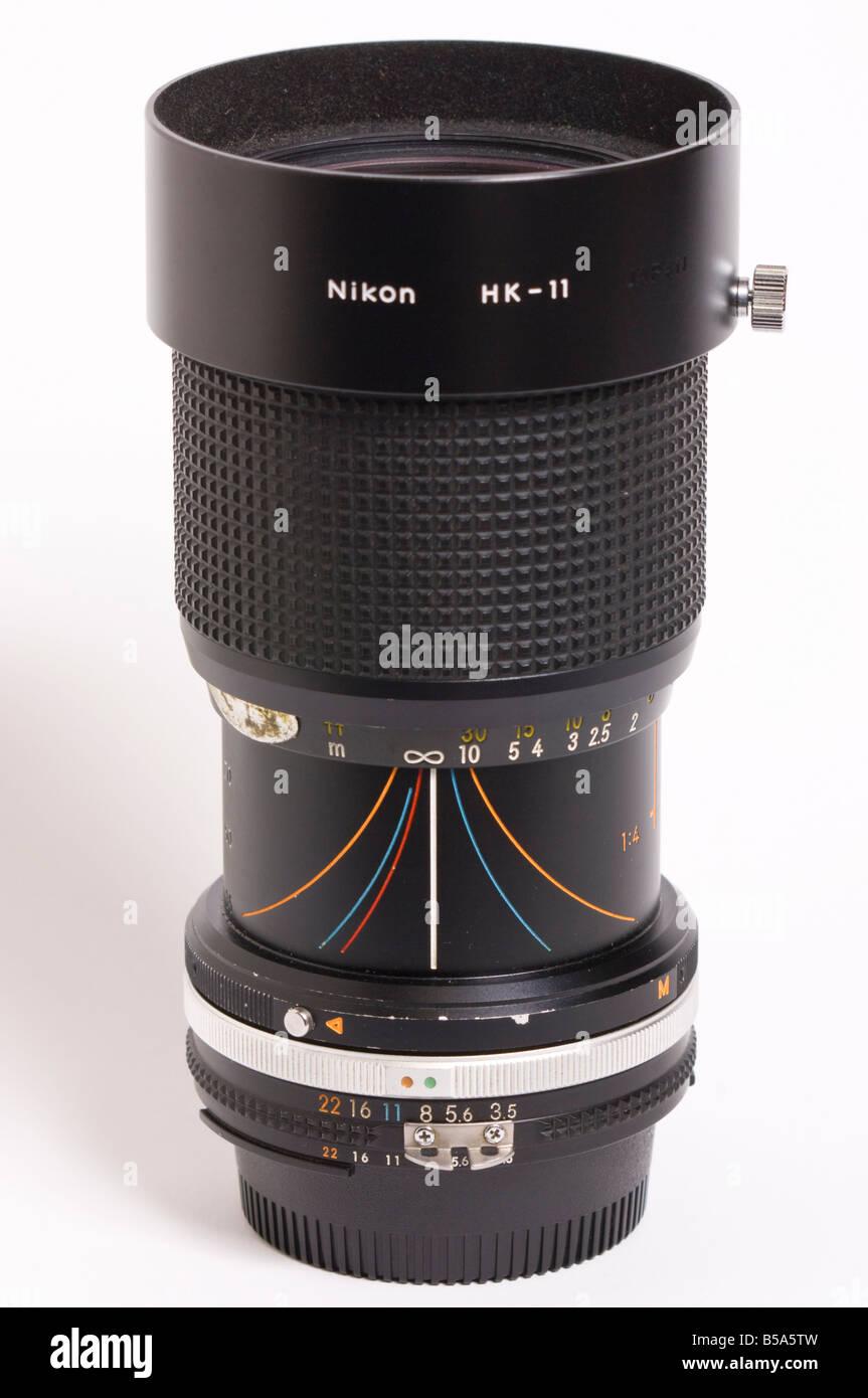 a nikon 35 105mm ais nikkor manual focus zoom lens with hk 11 lens rh alamy com Zoom Lenses for Nikon Cameras Nikon Zoom Lenses Review