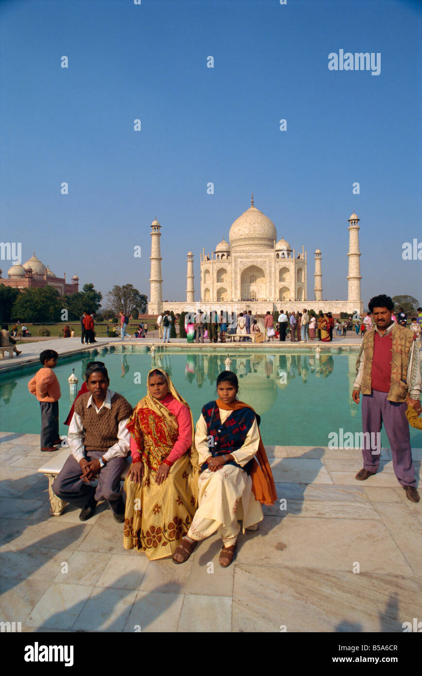 The Taj Mahal built by Shah Jahan for his wife UNESCO World Heritage Site Agra Uttar Pradesh state India Asia - Stock Image