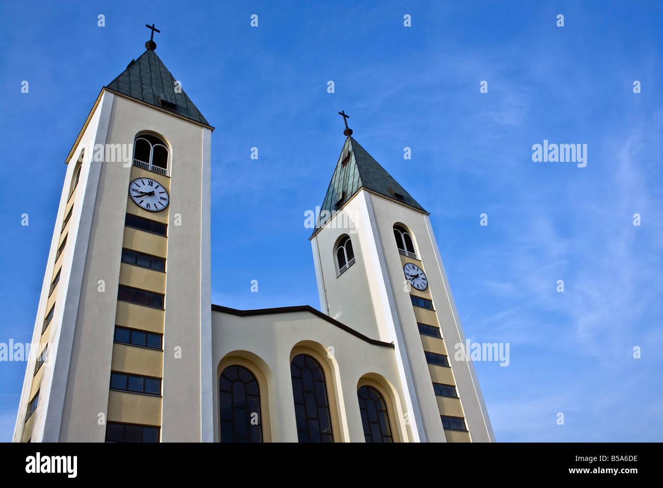 BOSNIA & HERZEGOVINA, MEDUGORJE. Church in the sanctuary Medjugorje, Herzegovina, Bosnia & Herzegovina, - Stock Image