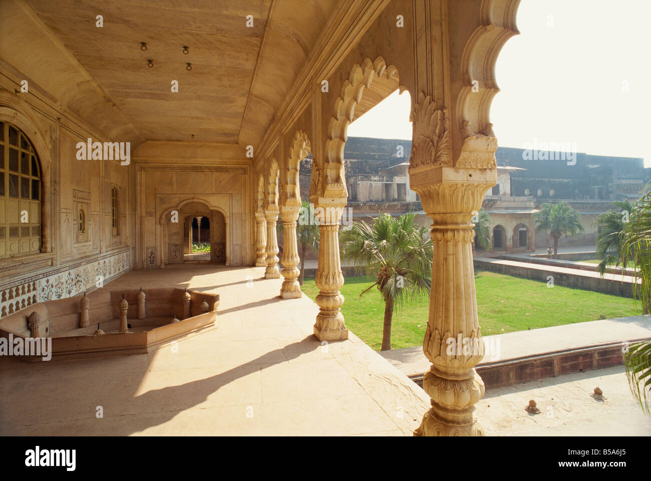 Summer Palace built in 1768 with over 2000 fountains Deeg Rajasthan state India Asia - Stock Image