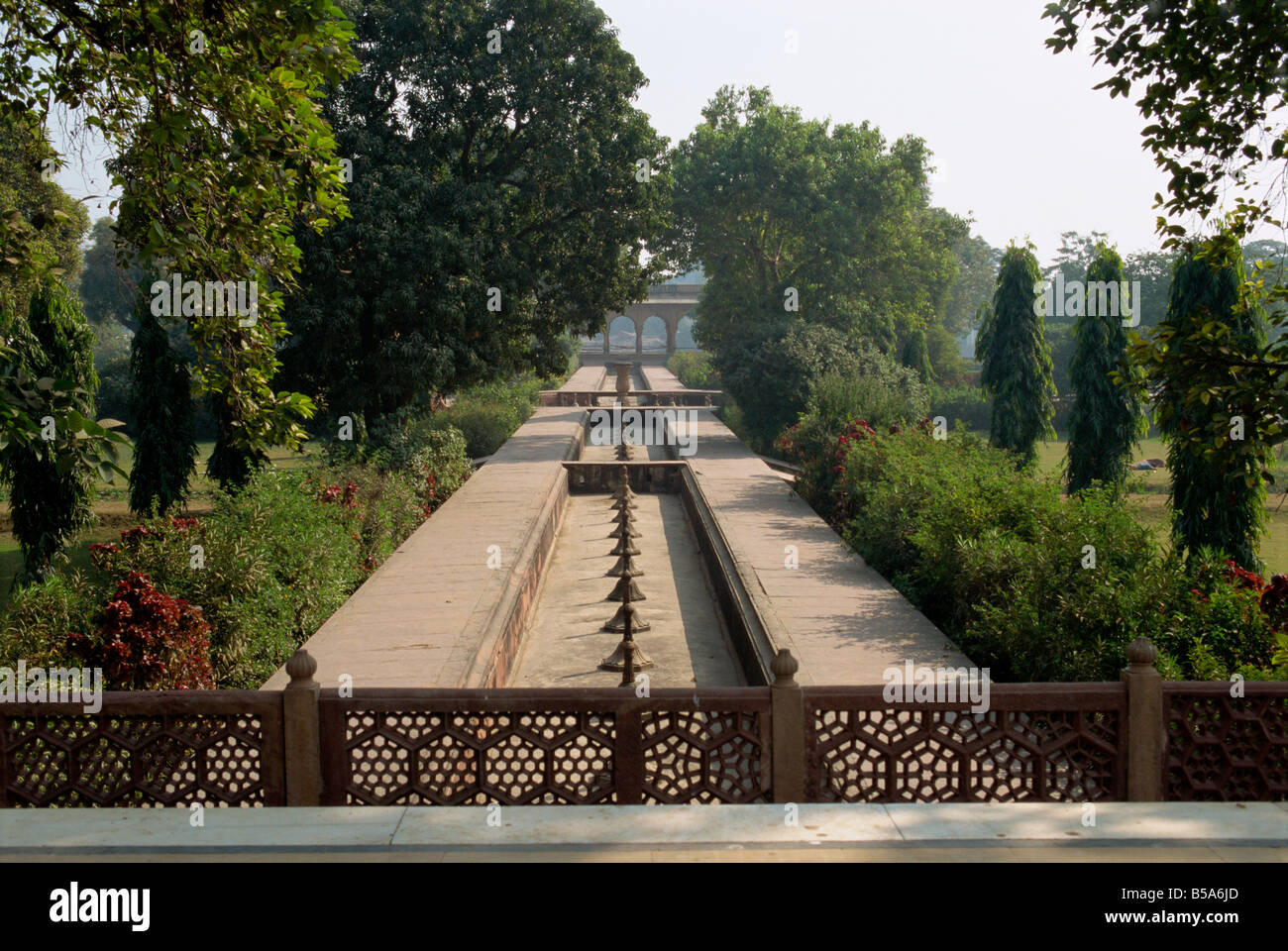 Summer Palace built in 1768 AD with over 2000 fountains Deeg Rajasthan state India Asia - Stock Image