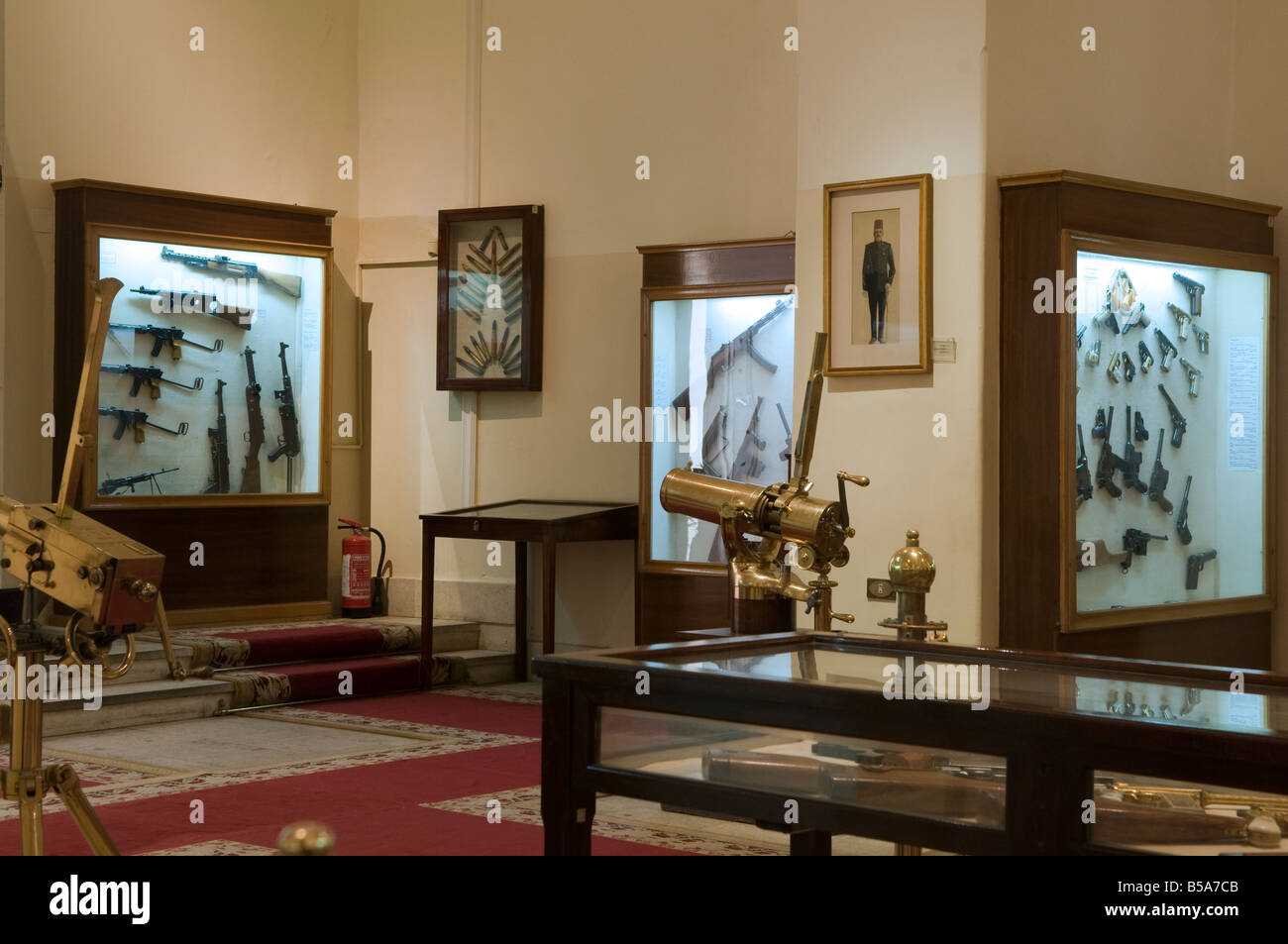Old weapons displayed at the the Arms room in Abdeen Palace Museum ...