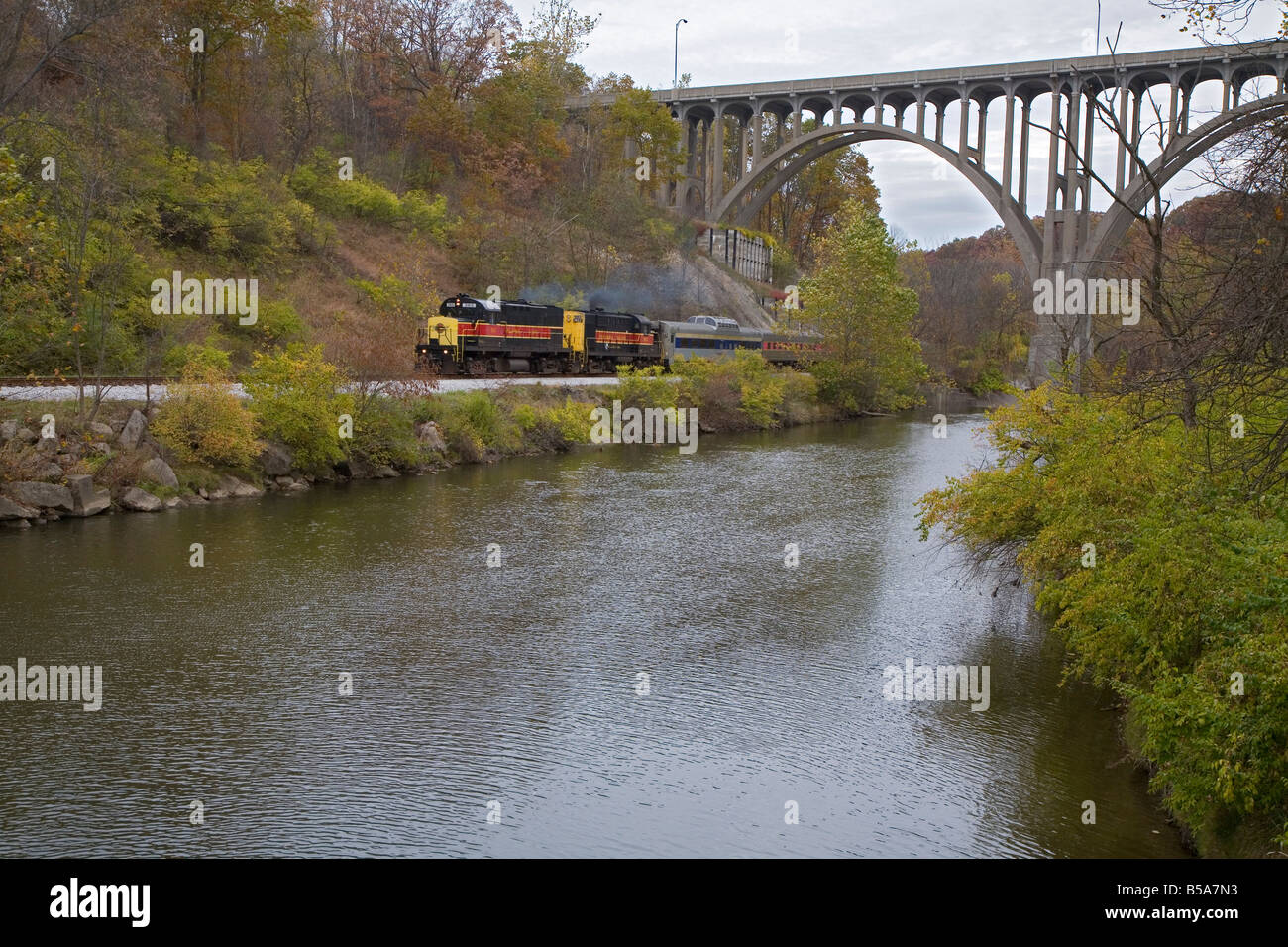 The Cuyahoga Valley Scenic Railroad Stock Photo