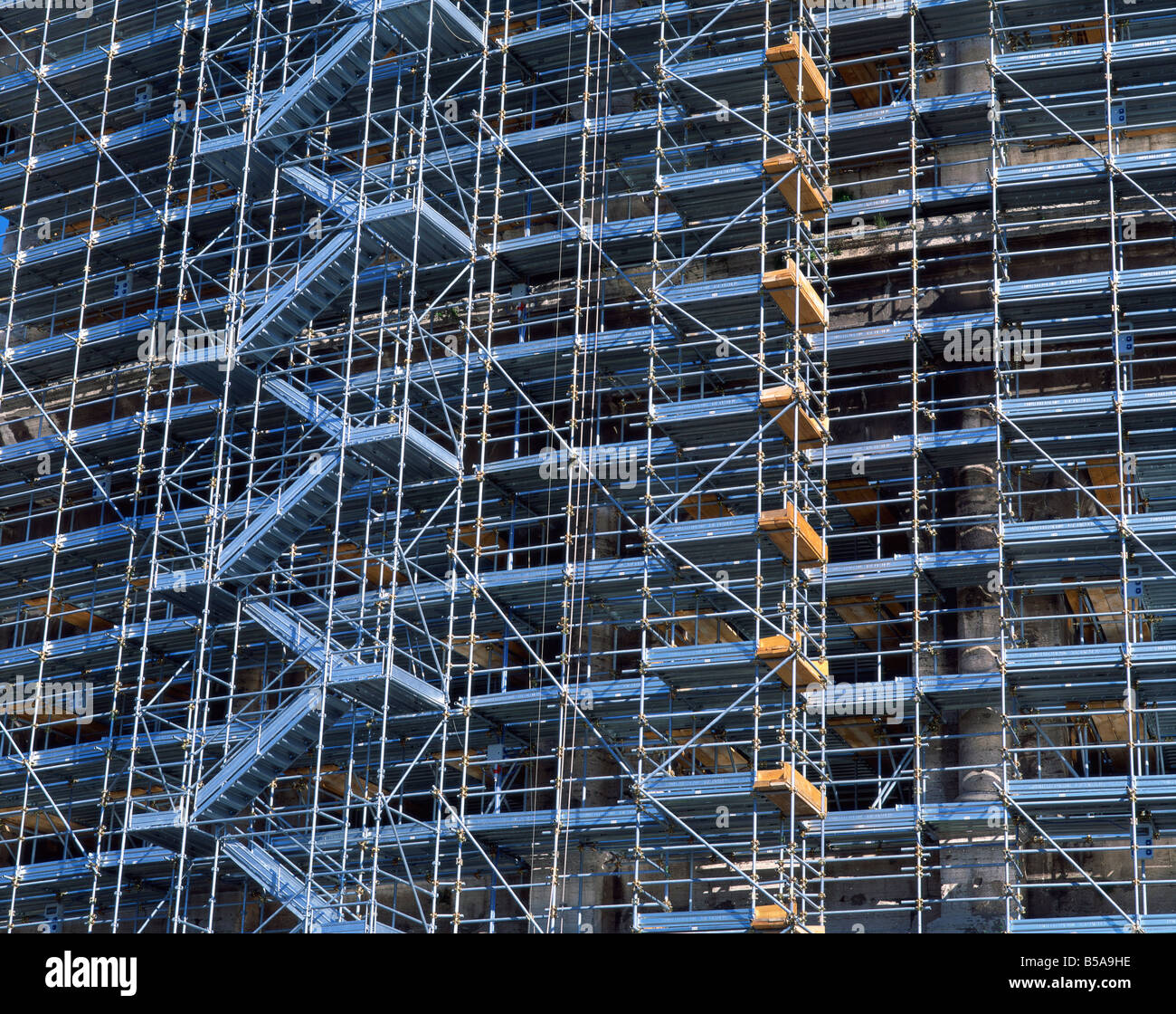 Large scaffolding facade - Stock Image