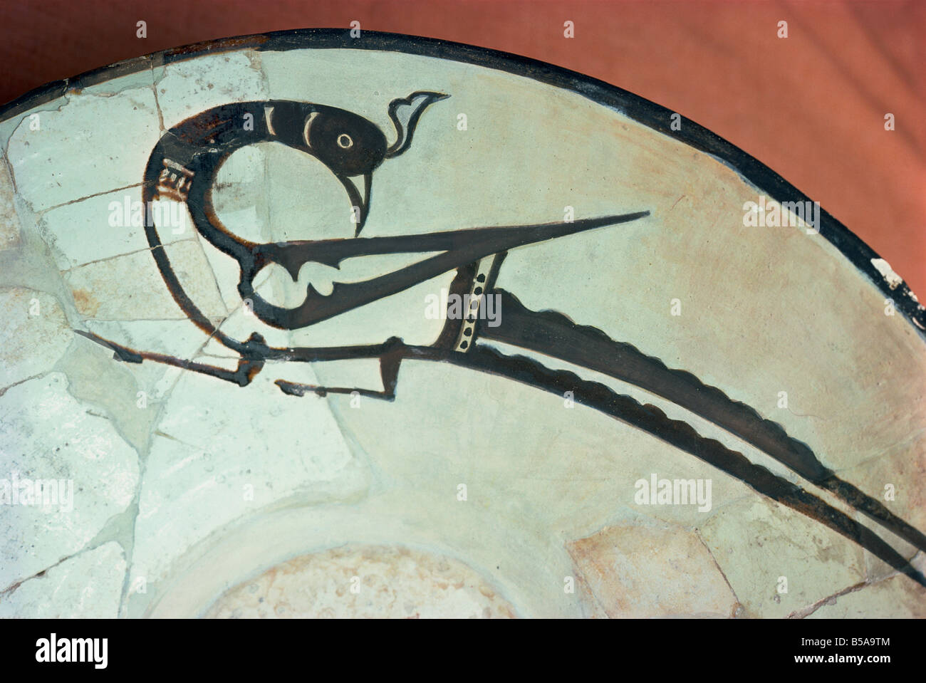 Exhibit in Archaeology Museum Teheran Iran Middle East - Stock Image