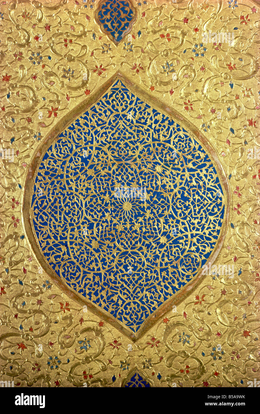 Cover of a Koran Mashad Iran Middle East - Stock Image