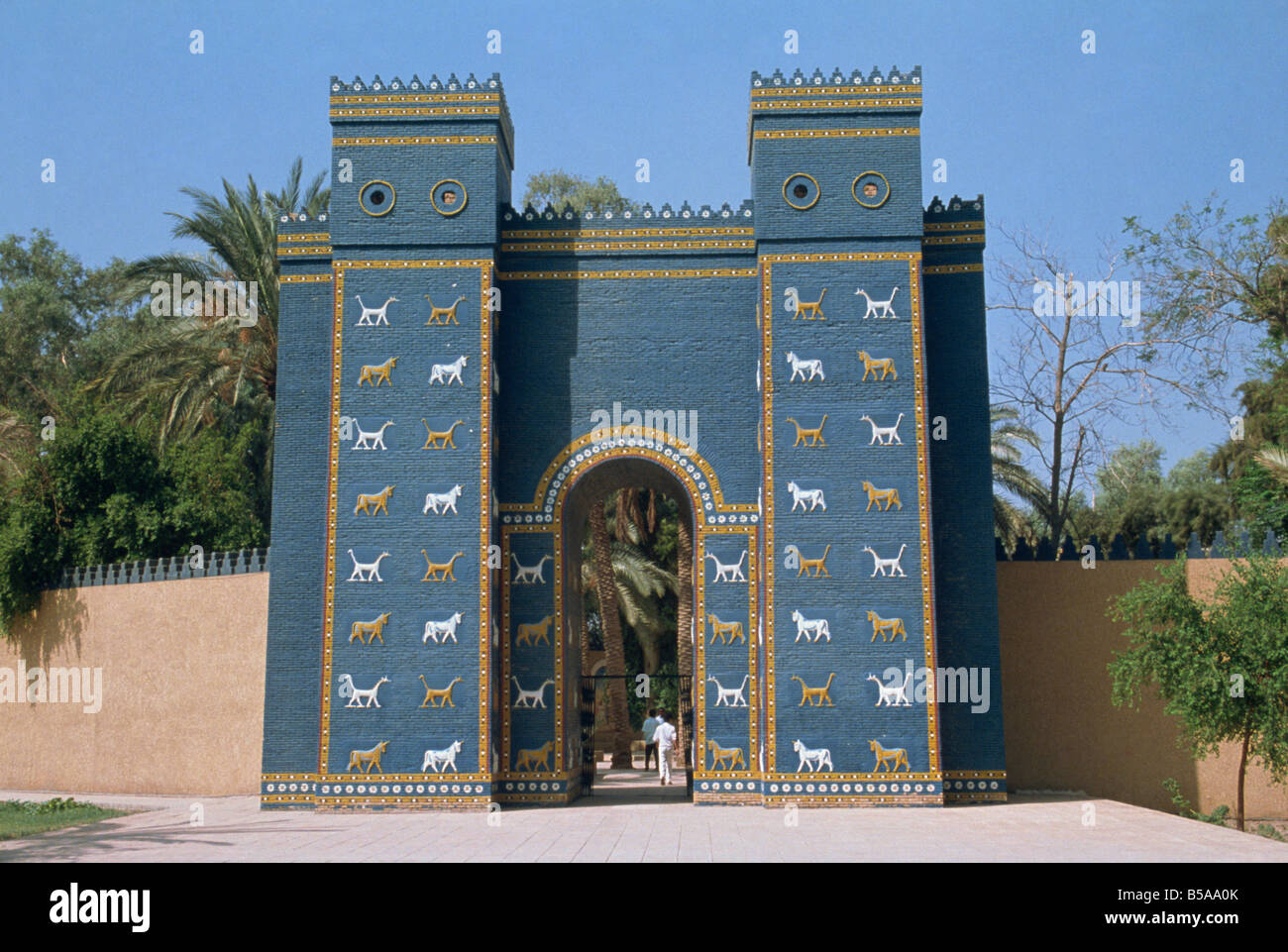 Ishtar Gate Babylon Iraq Middle East G Thouvenin Stock Photo