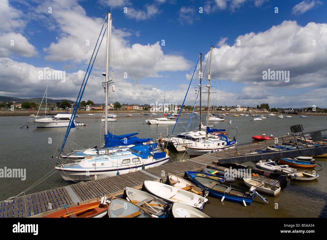 Dungarvan Harbour, County Waterford, Munster, Republic of Ireland, Europe - Stock Image