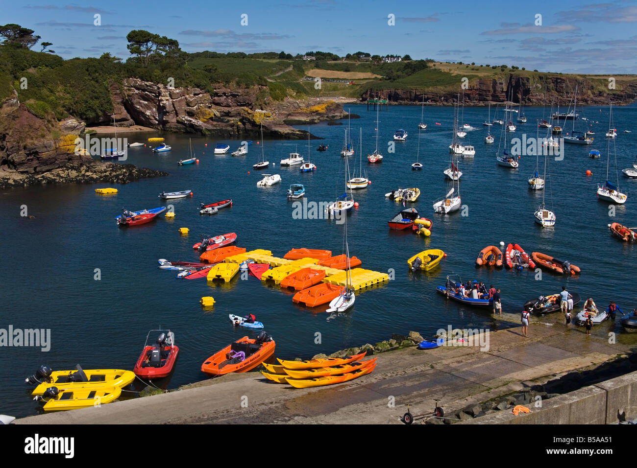 Adventure Centre, Dunmore East Harbour, County Waterford, Munster, Republic of Ireland, Europe - Stock Image