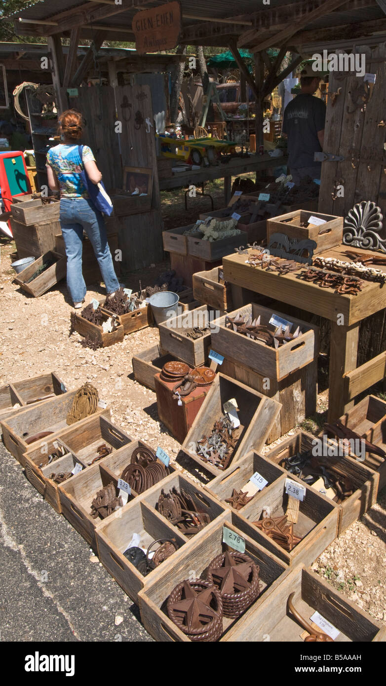 Texas Hill Country Wimberley  Market Days arts crafts collectable antique flea market - Stock Image