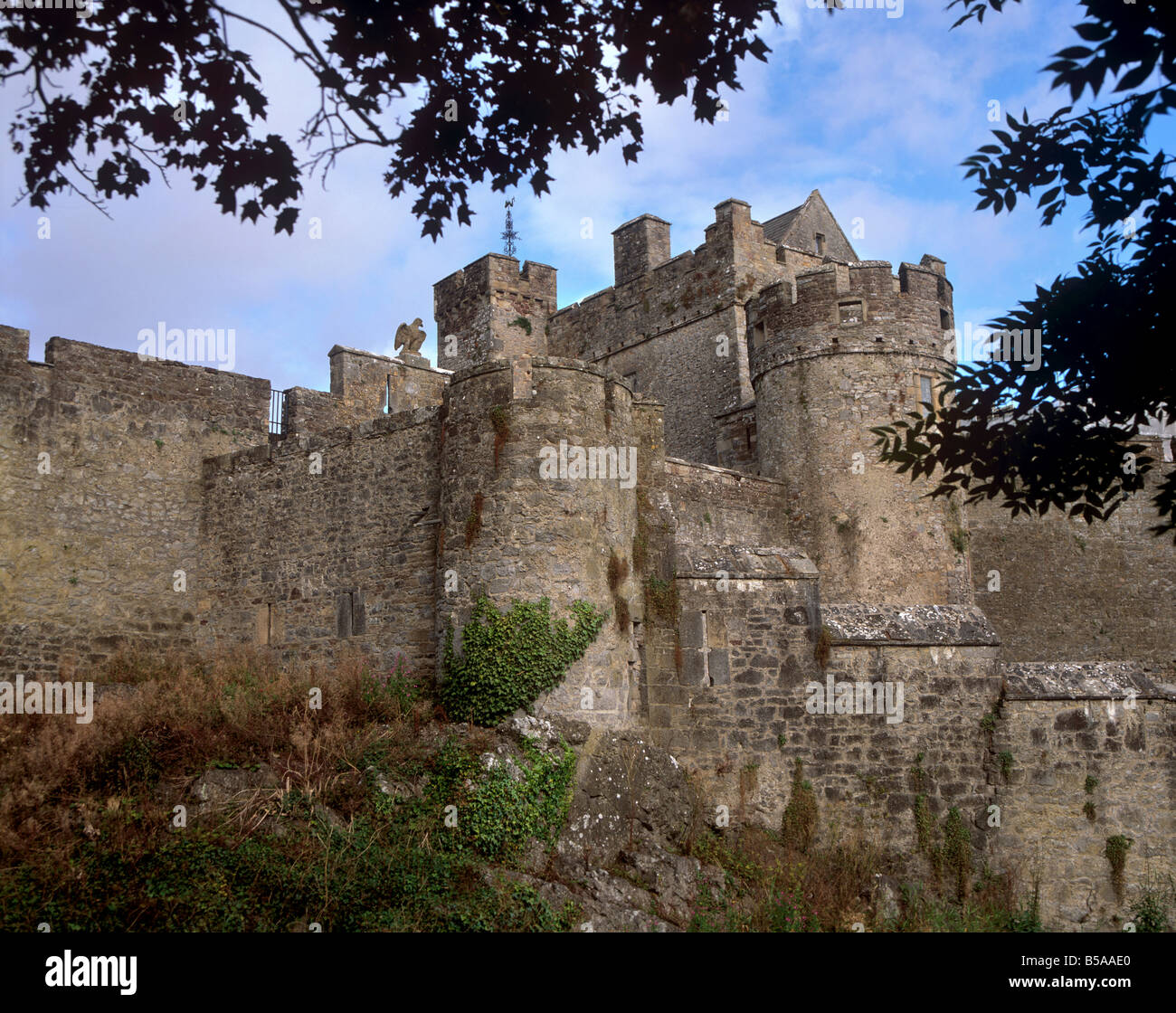 Cahir Castle, stronghold of the Butler family, Caher, County Tipperary, Munster, Republic of Ireland - Stock Image