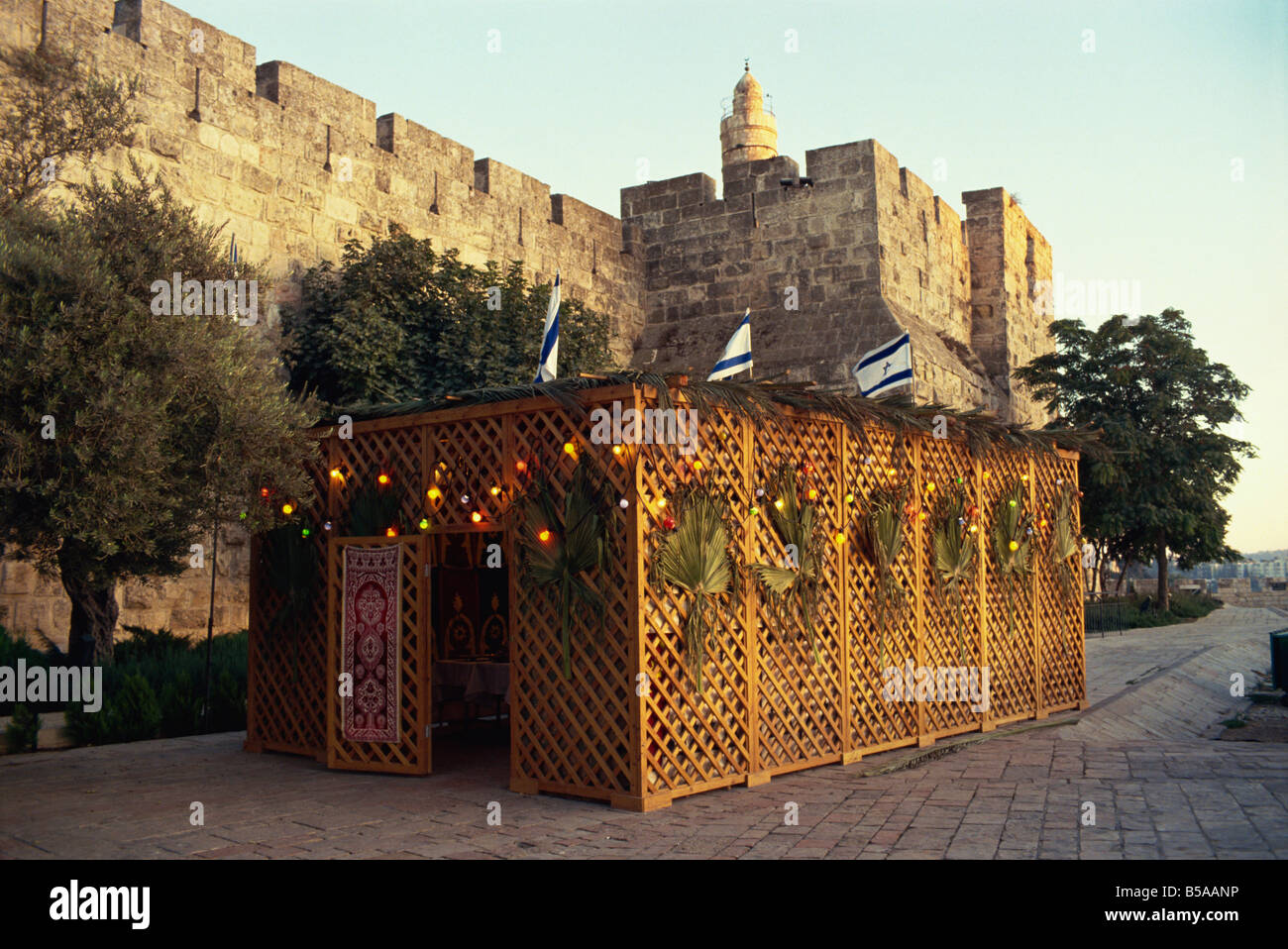 Succot (Succoth) (Sukkot), Festival of the Tabernacles, Tower of David, Jerusalem, Israel, Middle East - Stock Image
