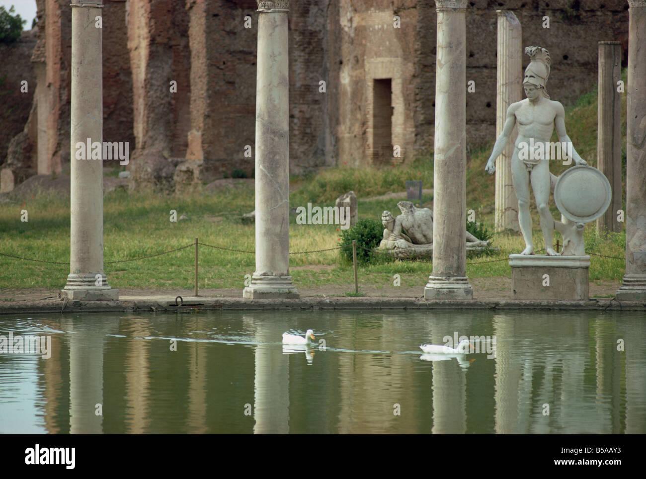 Hadrian's Villa, UNESCO World Heritage Site, Tivoli, Lazio, Italy, Europe - Stock Image