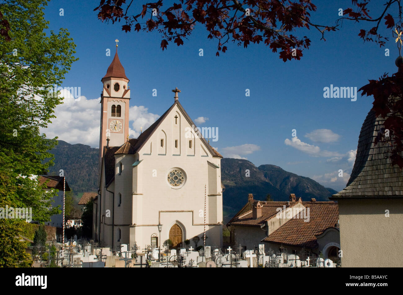 Church of St. John the Baptist, Dorf Tyrol, Sud Tyrol, Italy, Europe - Stock Image