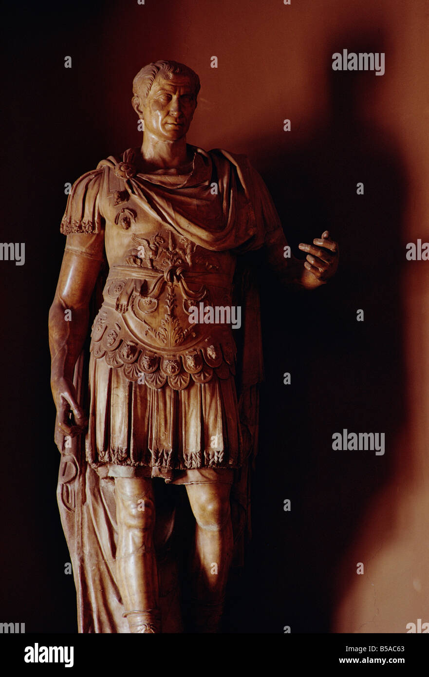 Statue of Julius Caesar in the Council Chamber, Capitol Hill, Rome, Lazio, Italy, Europe - Stock Image