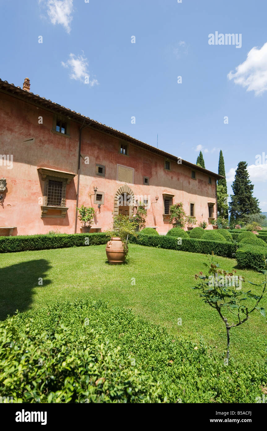 Villa Vignamaggio, used in film Much Ado About Nothing, Chianti, Tuscany, Italy Stock Photo