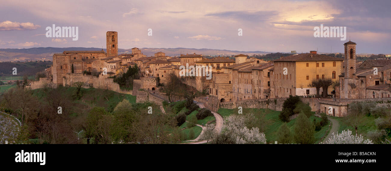 Colle di Val D'Elsa, a medieval town near Siena, Tuscany, Italy, Europe - Stock Image