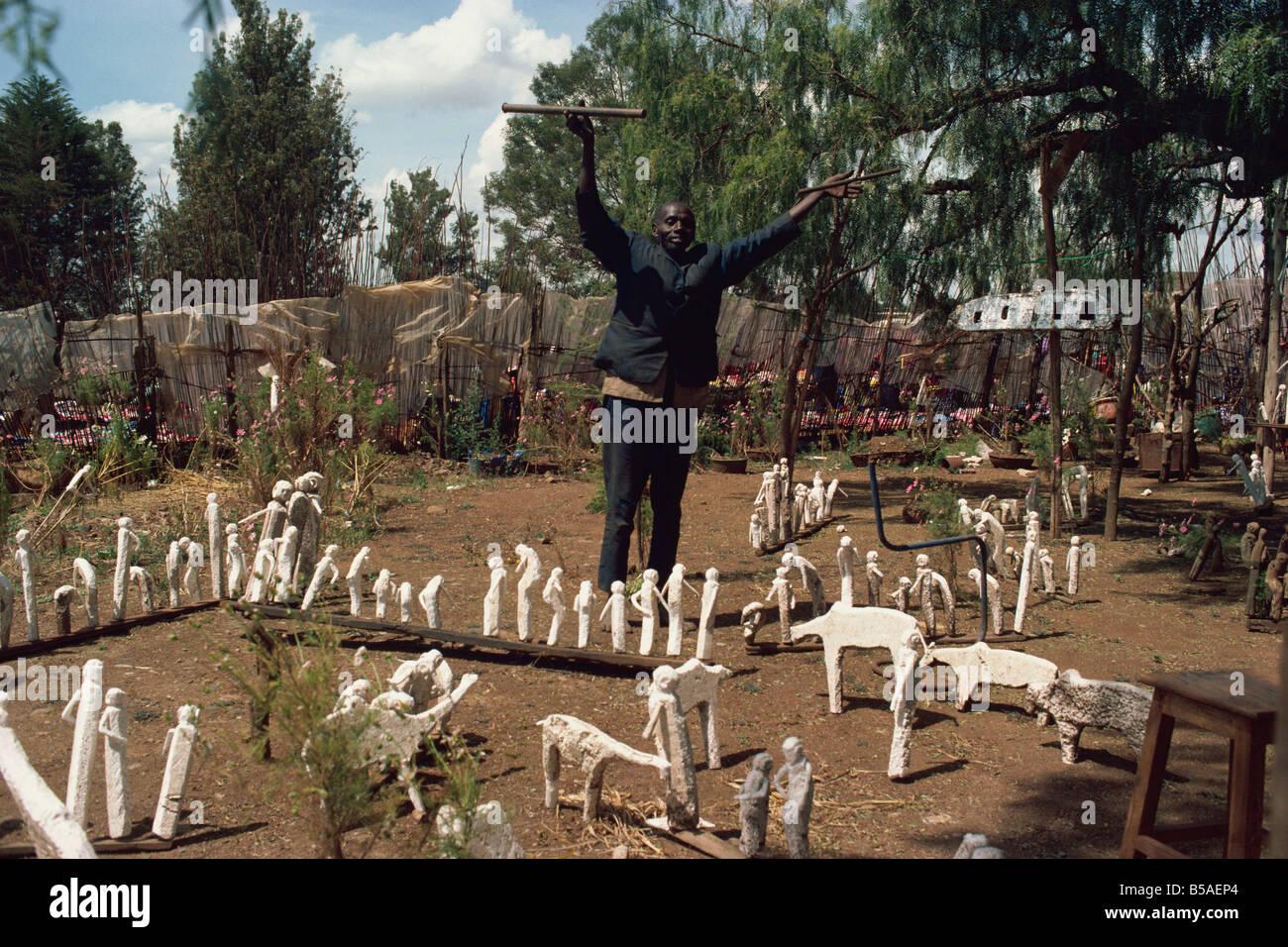 Witch doctor, Eldoret, Kenya, East Africa, Africa Stock Photo
