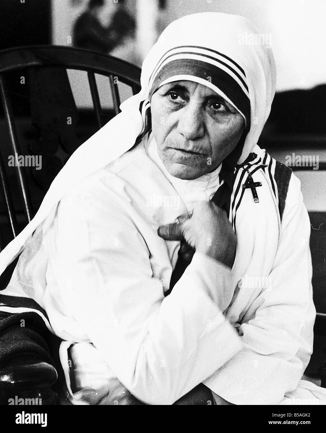 Mother Teresa Black And White Stock Photos Images Alamy