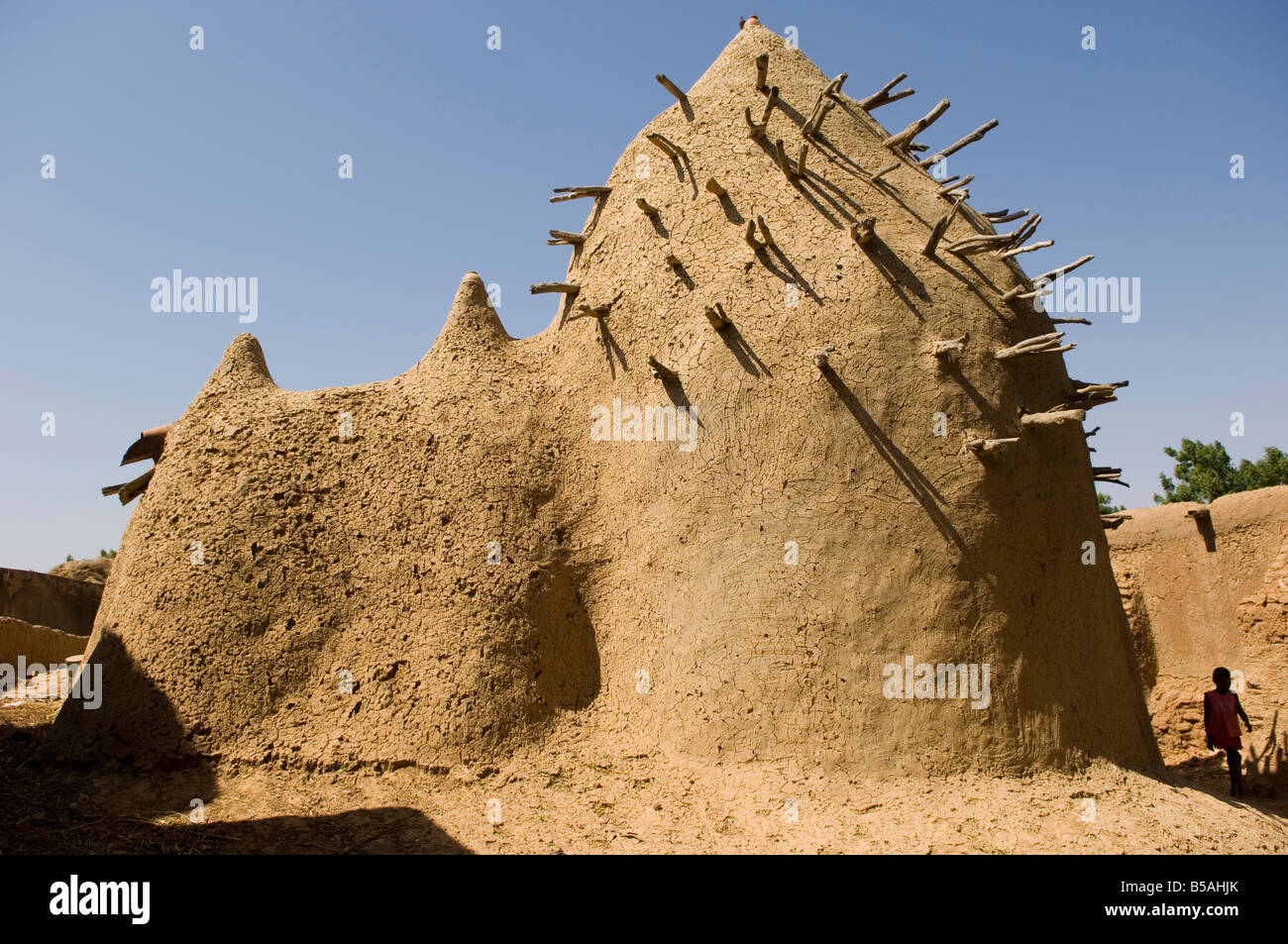 The two hundred year old mosque of Ba Sounou Sacko, Sekoro (Old Segou), first capital of the Bambara kingdom, Mali, - Stock Image