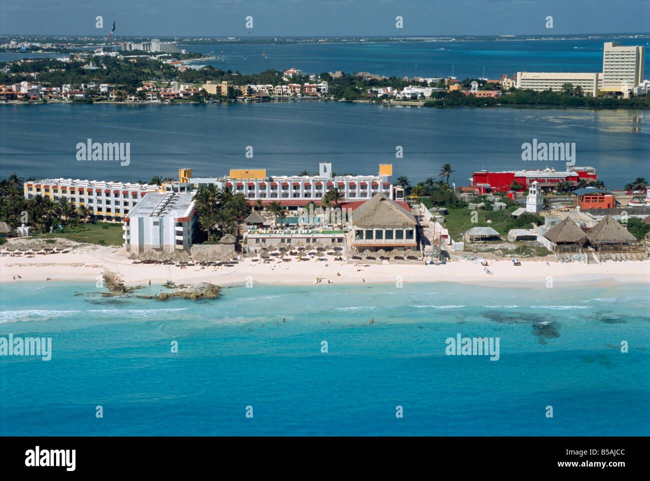 Hotel area Cancun Yucatan Mexico North America - Stock Image
