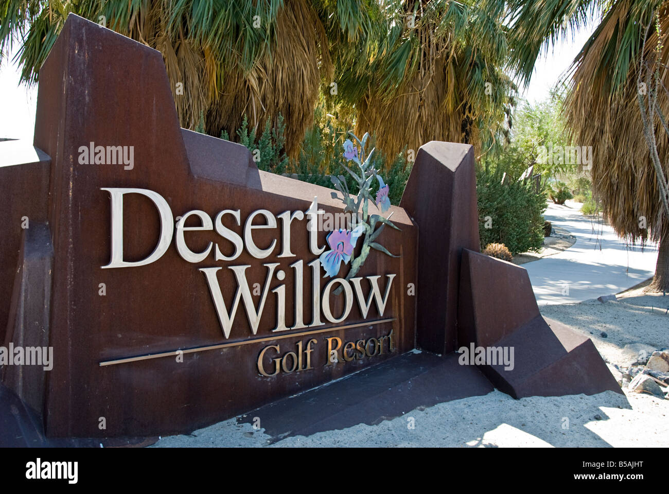 Palm Springs CA Desert Willows Golf course beautiful lovely picturesque Western US United States in Palm Desert - Stock Image