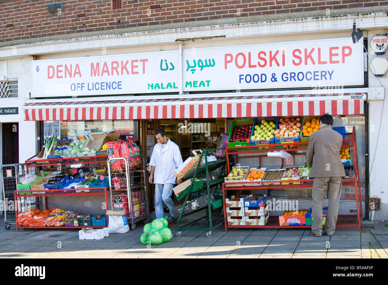 Polish Shop in Ealing London UK - Stock Image