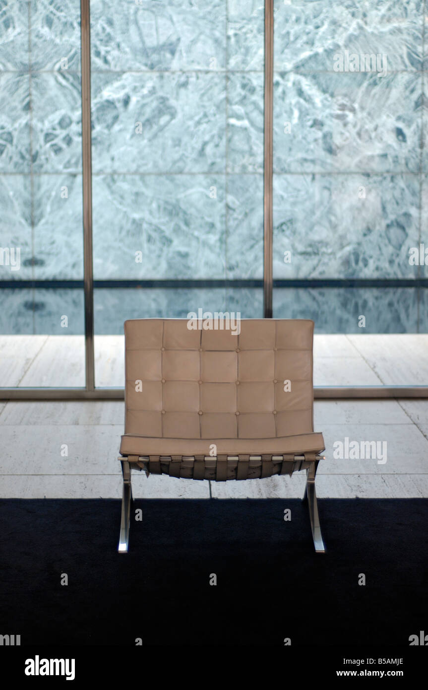 Barcelona Chair Designed By Ludwig Mies Van Der Rohe In German Stock