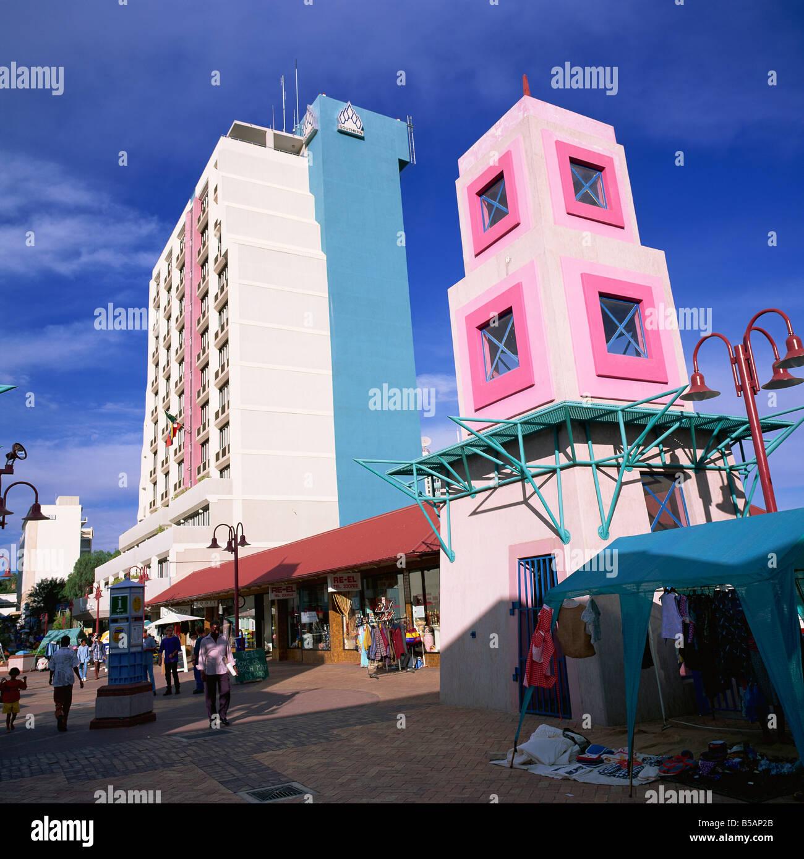 Post Street Windhoek Namibia Africa - Stock Image