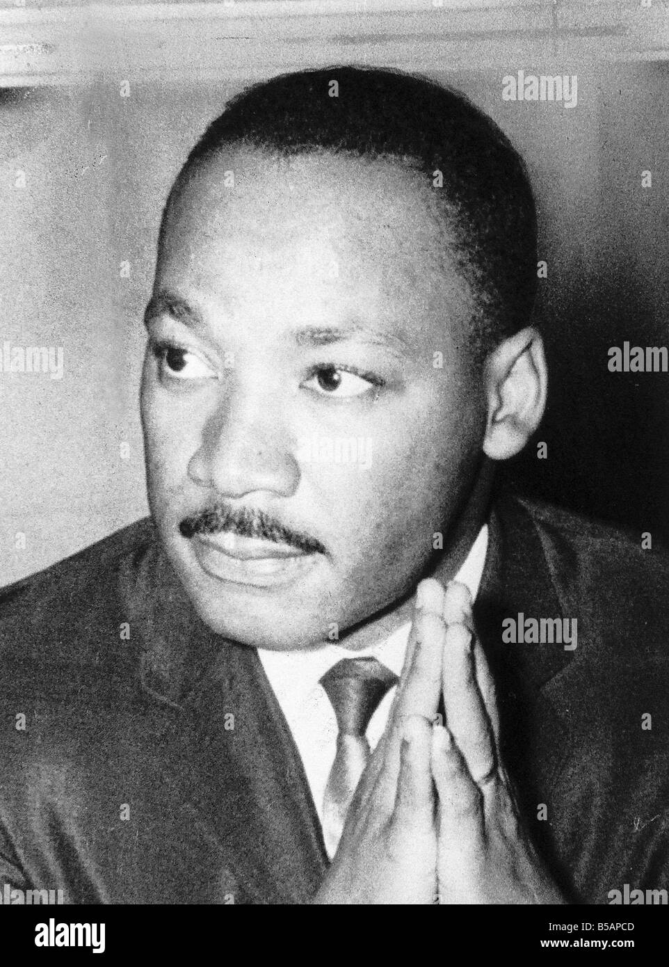 Dr Martin Luther King civil rights activist in the Chapter House St Pauls Cathedral London England after giving - Stock Image