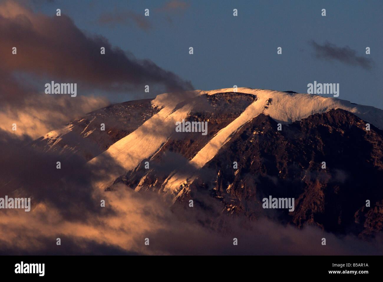 Mount Kilimanjaro, Tanzania, East Africa, Africa - Stock Image