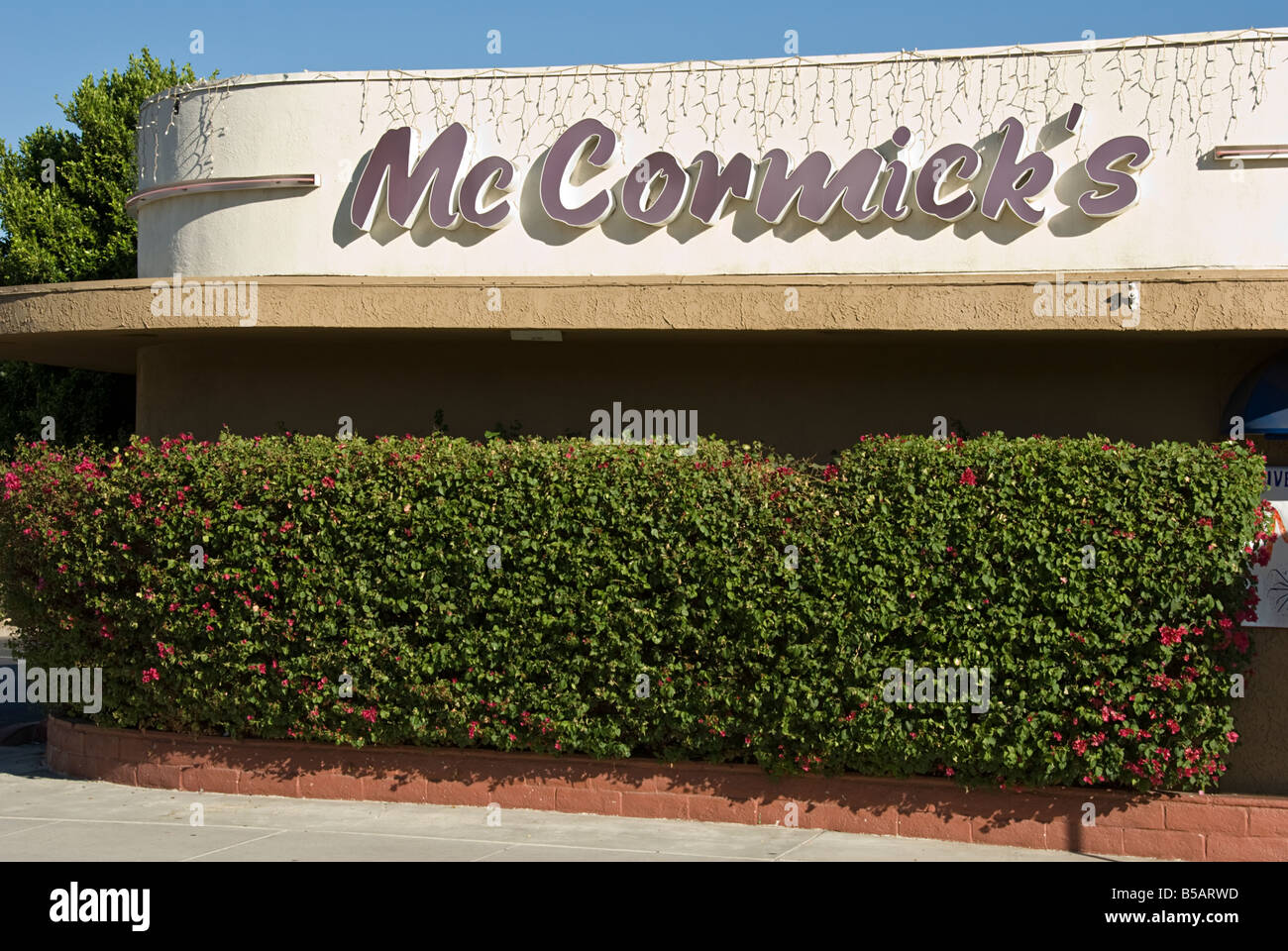 McCormick's trendy-club and swank-lounge Bar and Restaurant near Palm Springs CA Highway 111 Palm Desert typical - Stock Image
