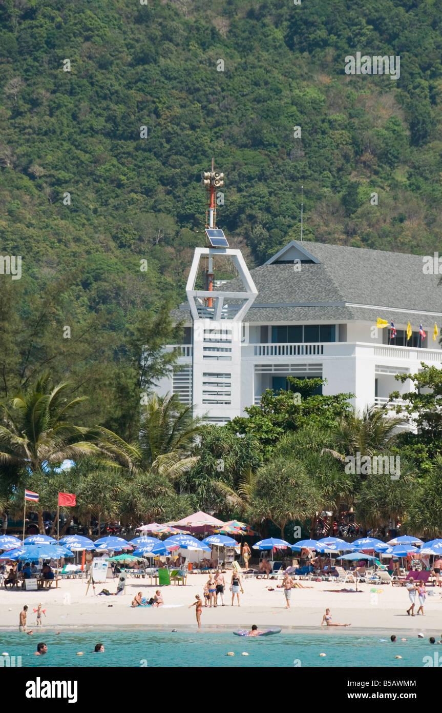 Tsunami warning tower, Kata Beach, Phuket, Thailand