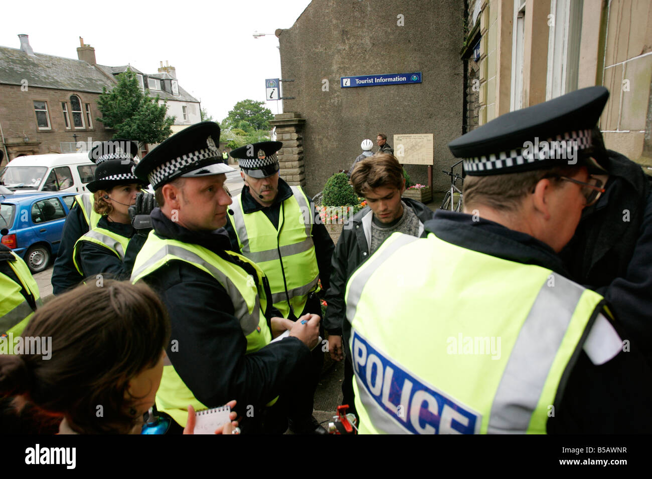 police search - Stock Image