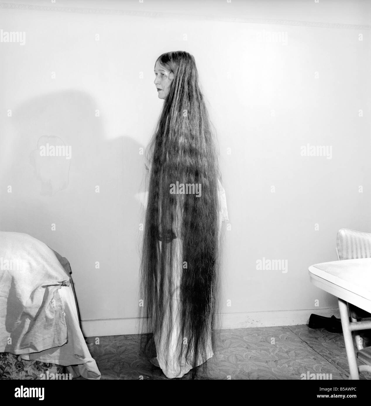 Hair Styles Long Hair Mrs Mabel Anderson Seen Here With Her Floor