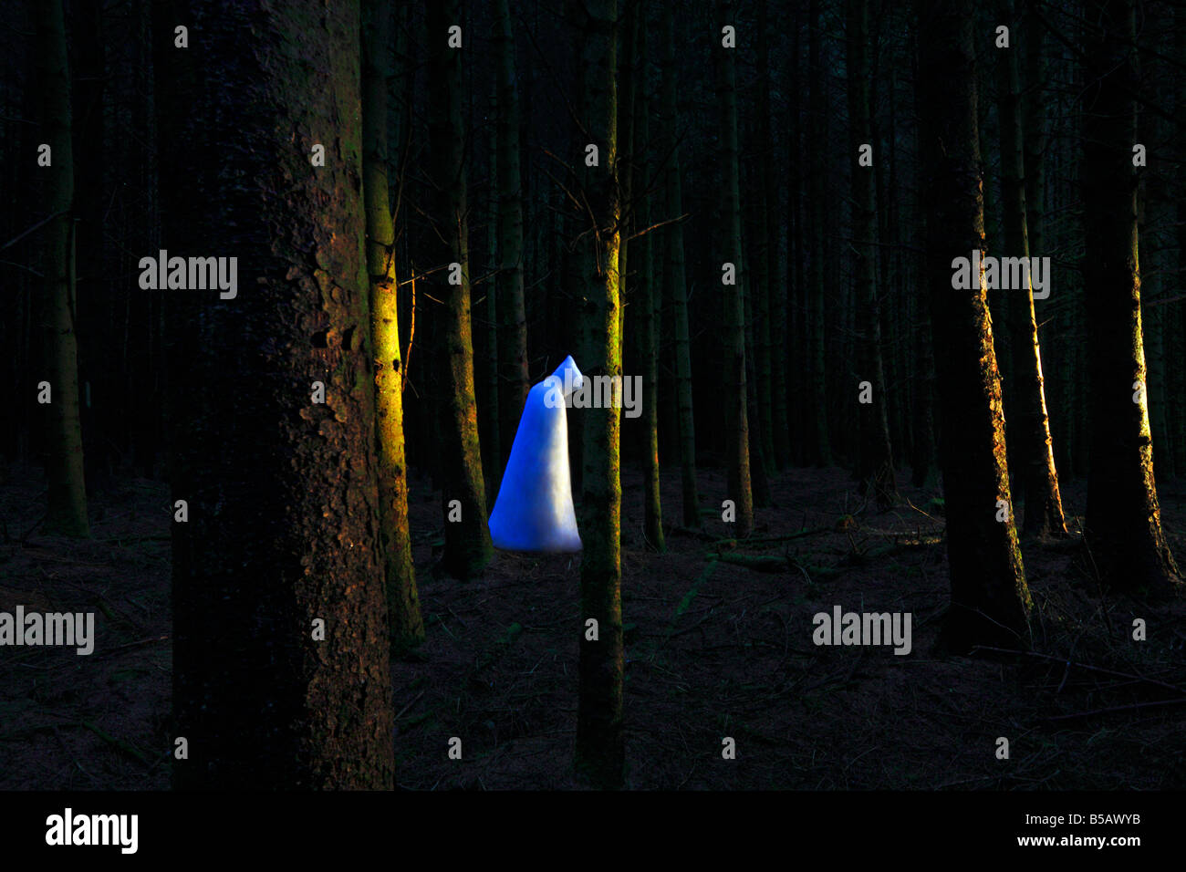 Ghost in the woods - Stock Image