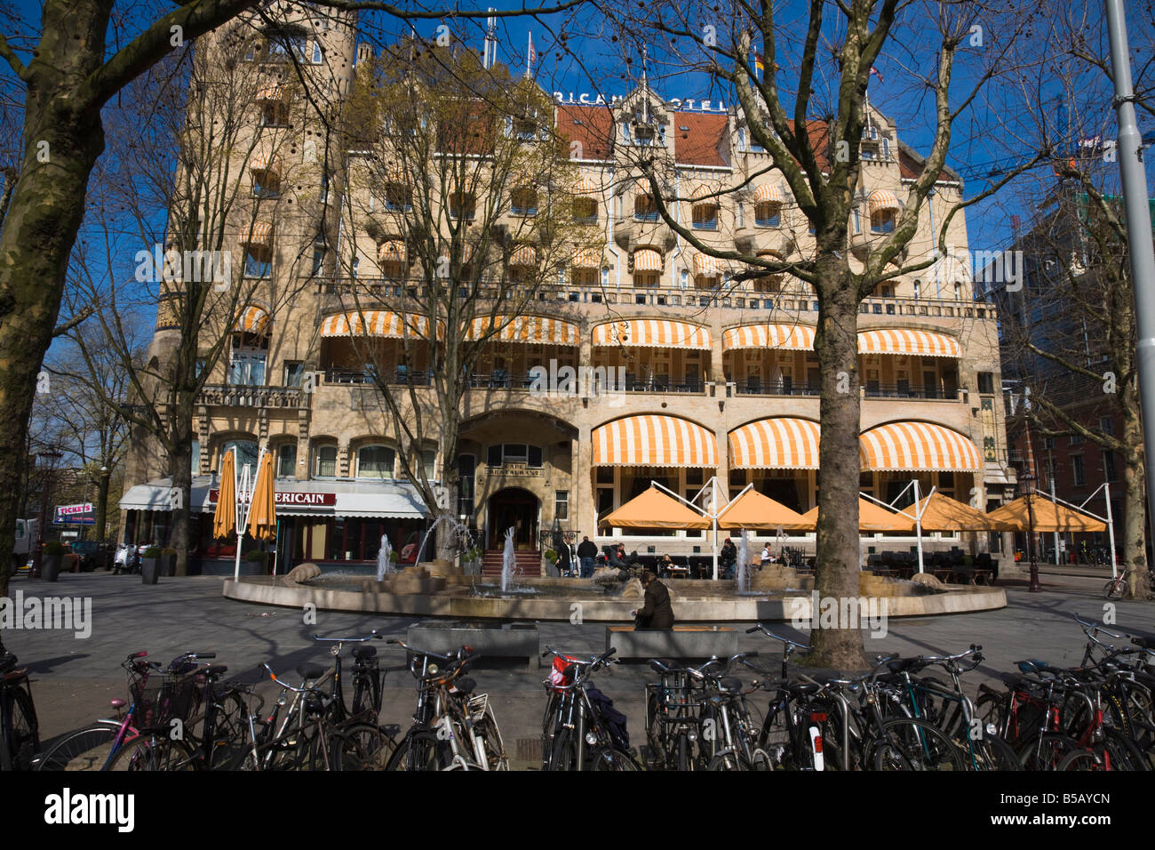 The American Hotel, a famous Art Nouveau style building in Stock