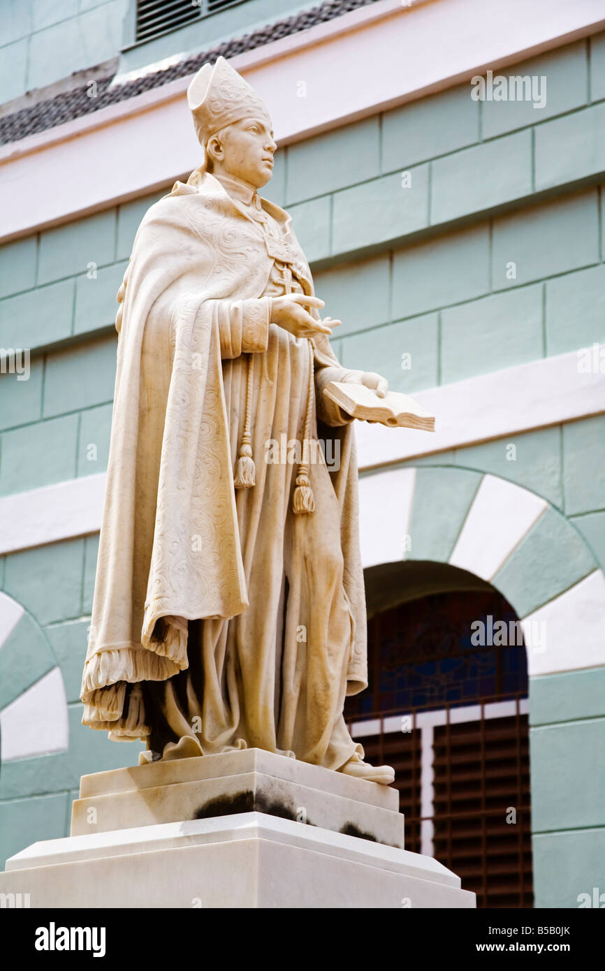 Martinus Joannes Niewindt statue, Basilica Santa Ana, Alley District, Willemstad, Curacao, Netherlands Antilles, - Stock Image