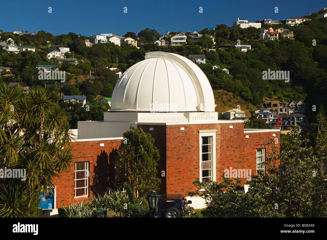 Carter Observatory and Planetarium on Mount Victoria in the Botanic Gardens, New Zealand, Wellington, New Zealand - Stock Image