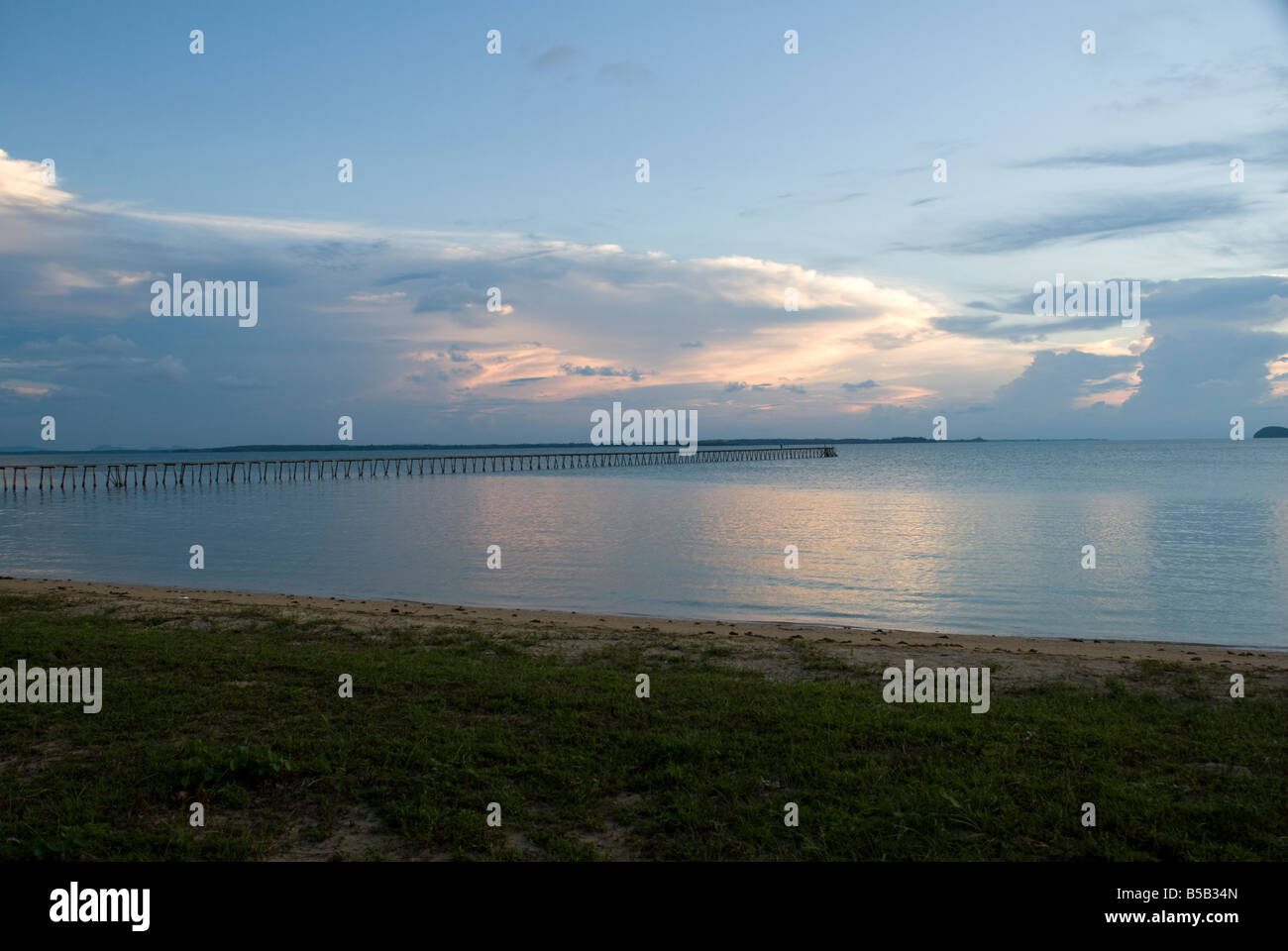 Cloud and Sea scape from the South China Sea - Stock Image