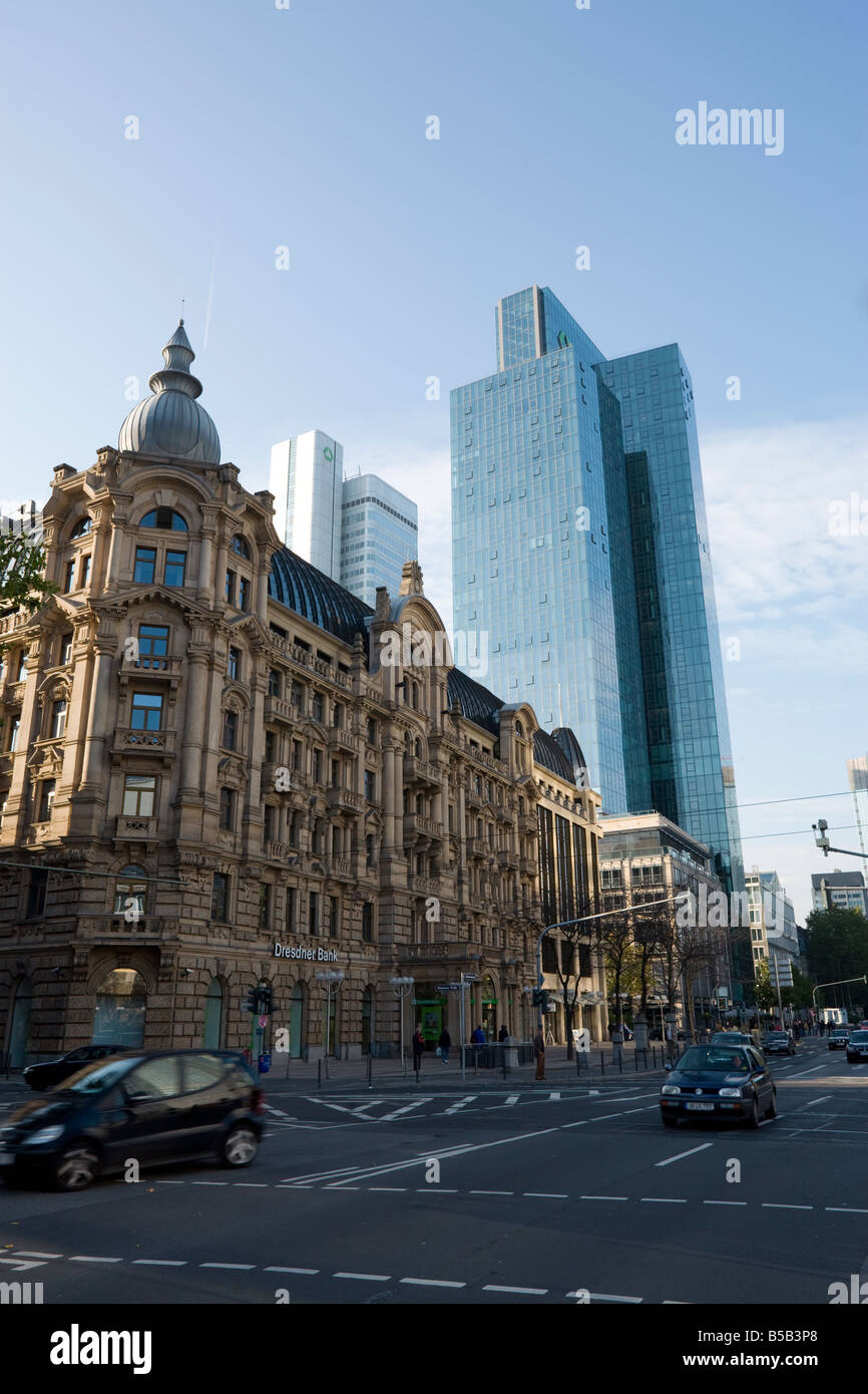 Dresdner Bank AG headquarter buildings and branch at Frankfurt, Germany Stock Photo
