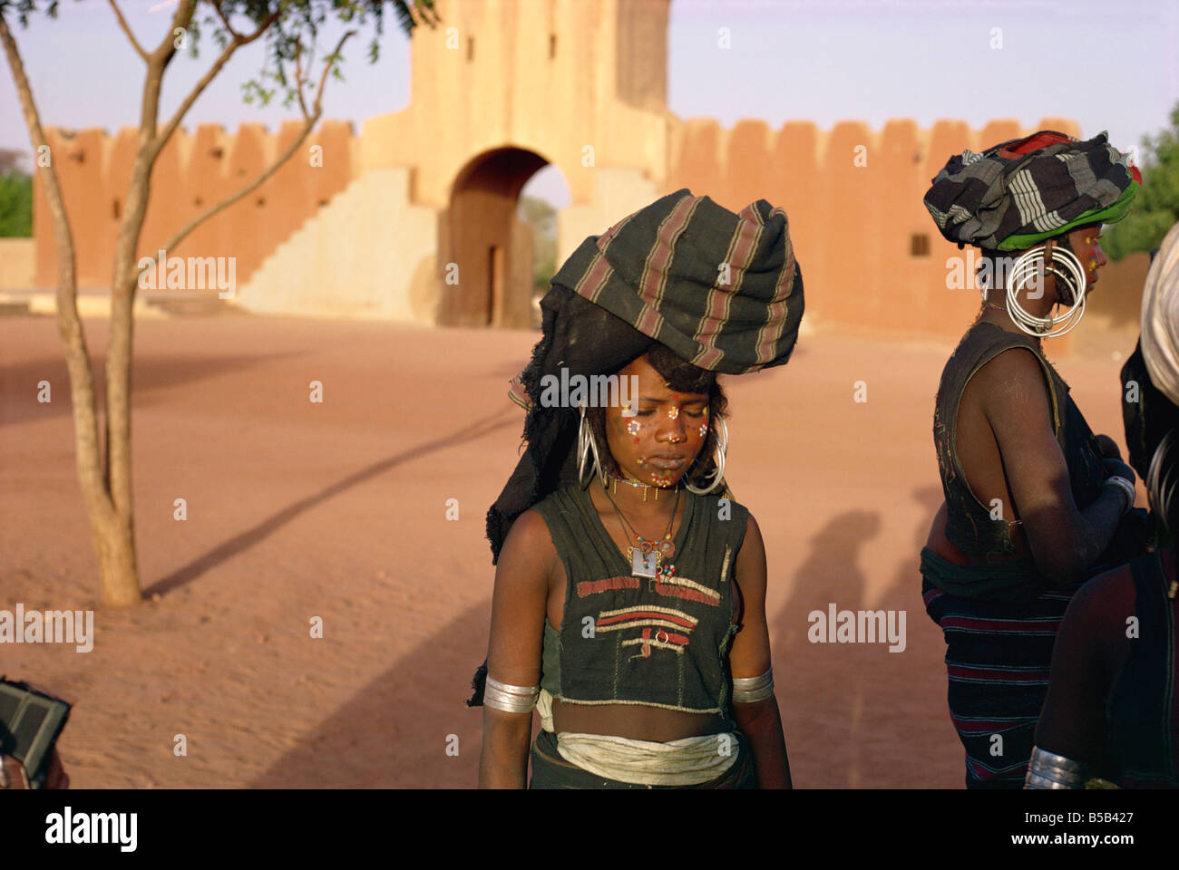 Woman of Filingue, Niger, West Africa, Africa - Stock Image