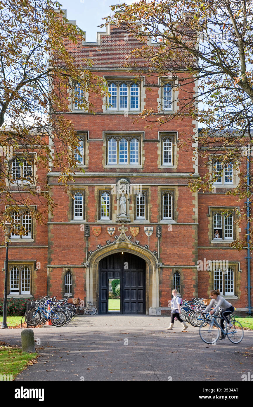 One of the arches  at Jesus College, Cambridge. Stock Photo