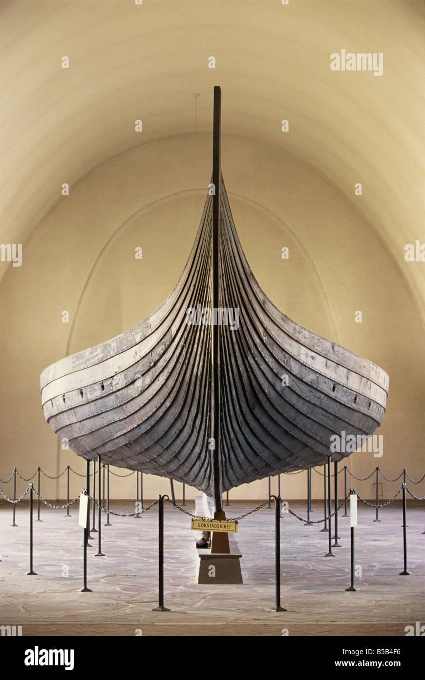 Gokstad Ship, Viking Ship Museum, Bygdoy, Oslo, Norway, Scandinavia, Europe - Stock Image