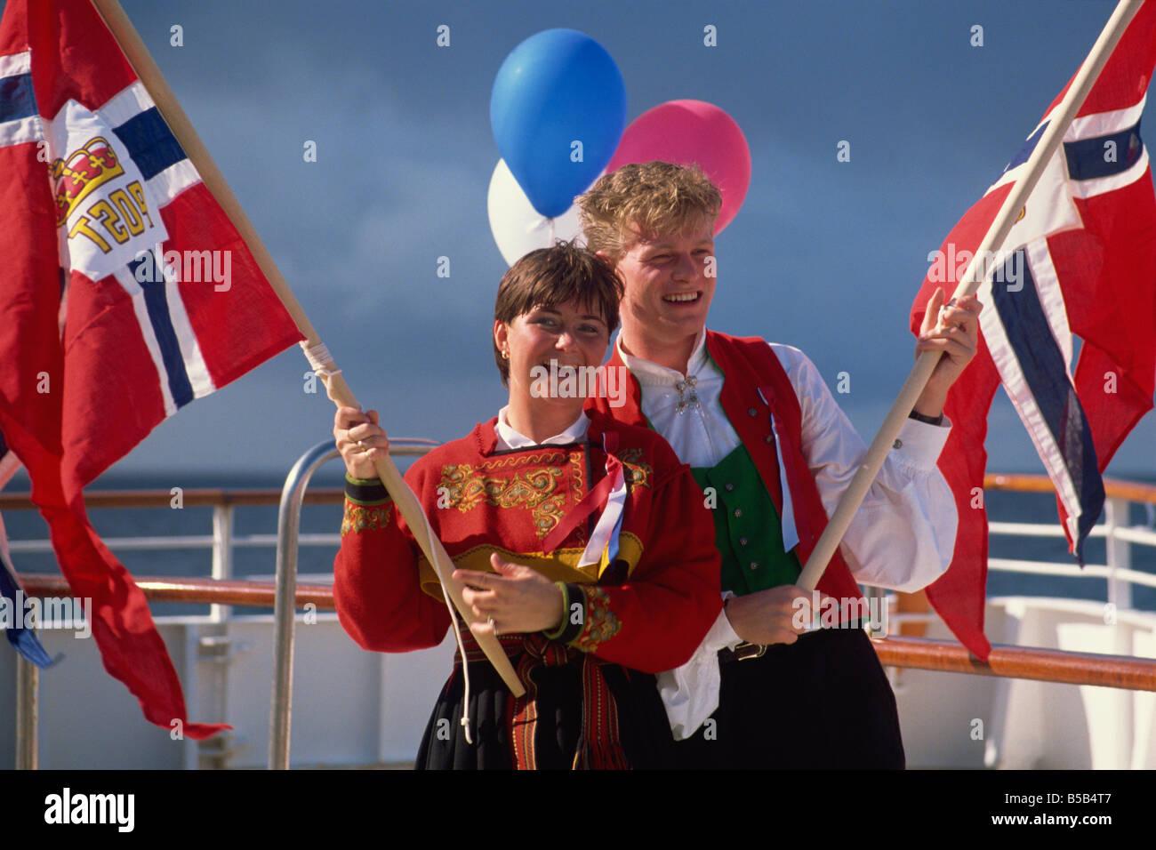 Norwegians celebrate National Day on May 17th Norway Scandinavia Europe Stock Photo