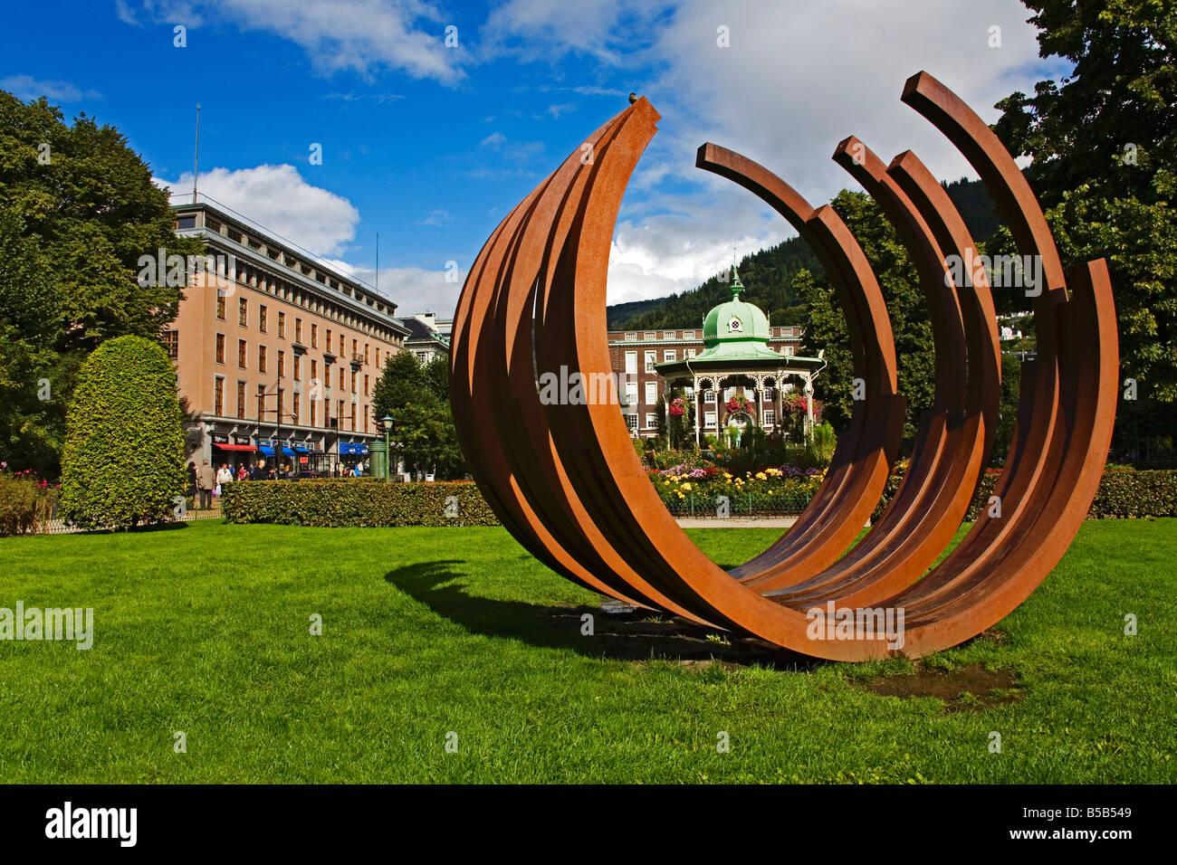 Sculpture outside the West Norway Museum of Decorative Art, Bergen, Norway, Scandinavia, Europe Stock Photo