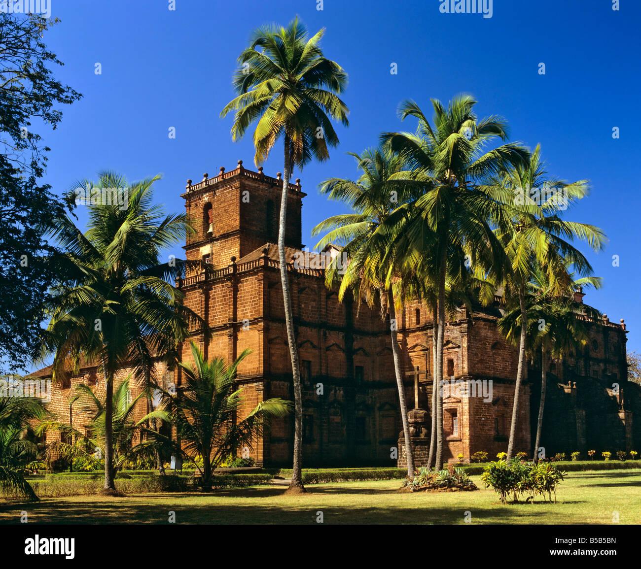 Basilica do Bom Jesus in Goa, final resting place, Francisco de Xavier's burial site, Panji, Goa, India - Stock Image
