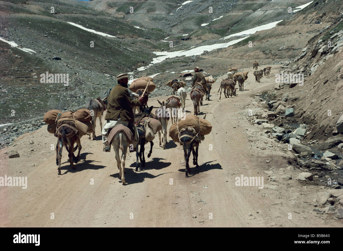 Near the top of the pass connecting Chitral Pakistan Asia - Stock Image
