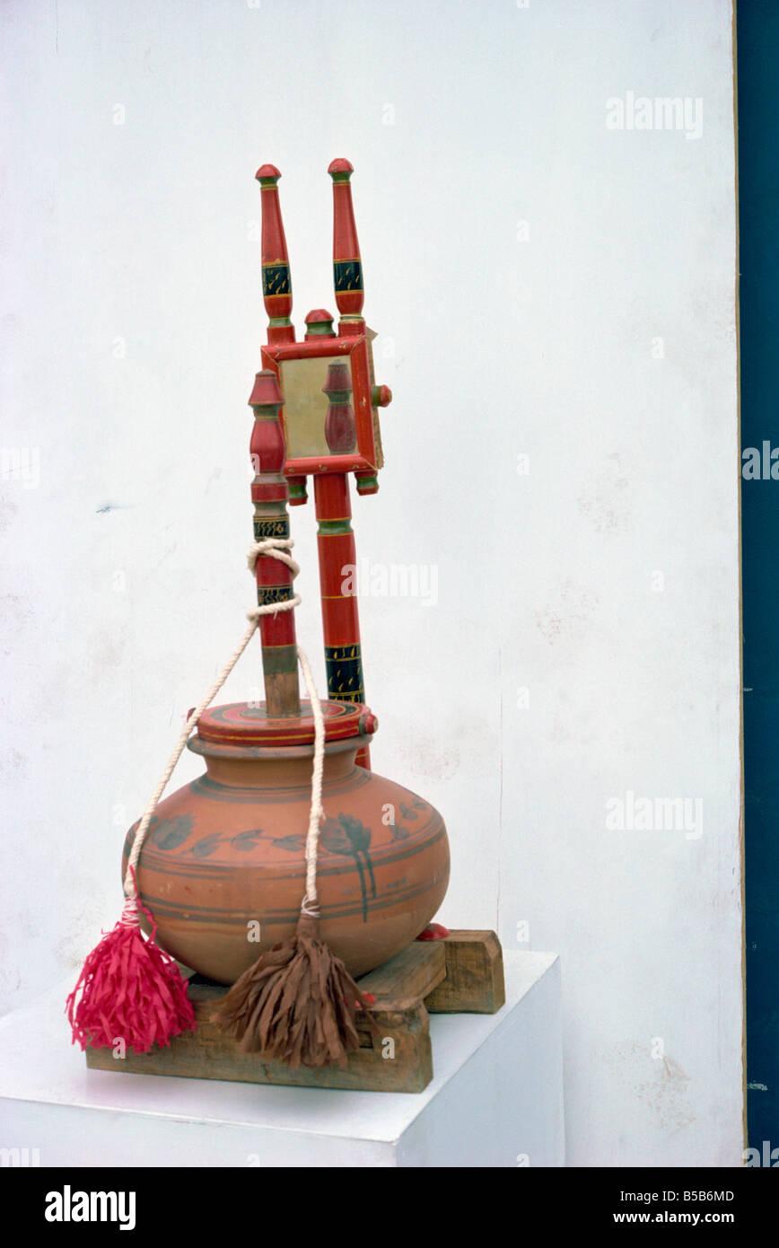 Madhani with chatti churn Pakistan Asia Stock Photo